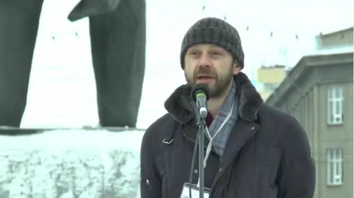 Новосибирск, митинг: «Свободу Виктору Ганчару! Защита семьи и дома это долг, а не преступление» (07.02.16)