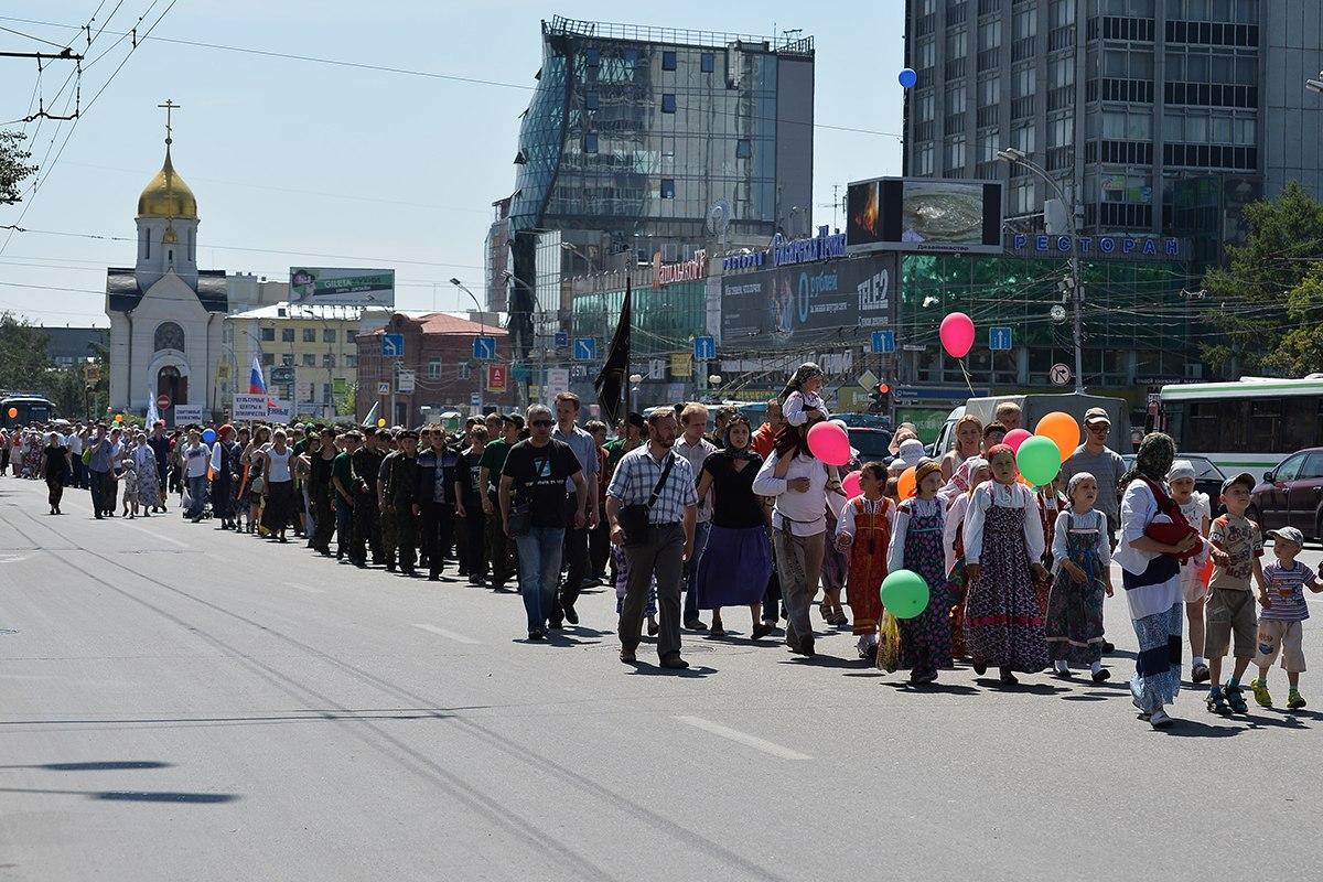 #ФотоДняРусскоеПоле: «Новосибирск. Первый молодёжный крестный ход» (14.07.13)