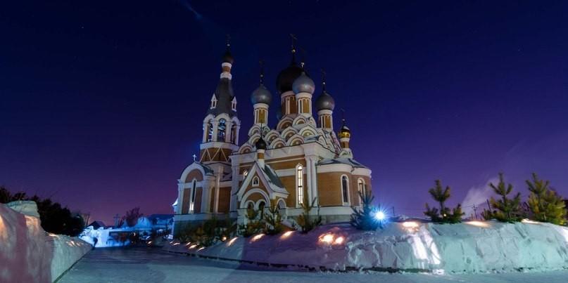 Празднование Рождества Христова в Бердске