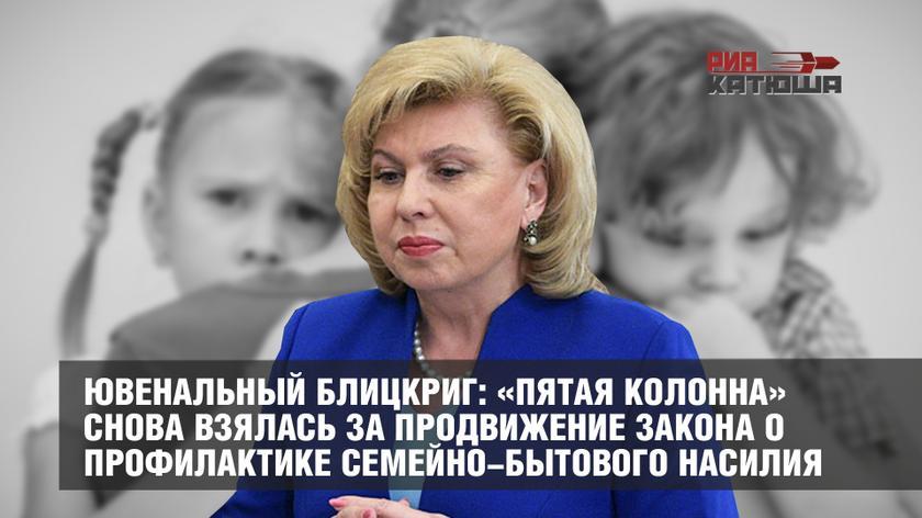 РИА Катюша: «Ювенальный блицкриг: «пятая колонна» снова взялась за продвижение закона о профилактике семейно-бытового насилия» (10.07.19)